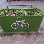 cyclelockwithwildflowers
